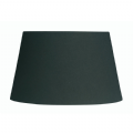 Black Cotton Drum Fabric Lamp Shade 12 inch S901/12BK - Oaks Lighting